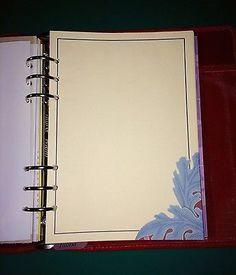 Filofax-A5-Planner-Organiser-Paper-20-Sheets-of-Beautiful-Blue-Corner-Design