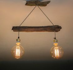 Driftwood lamp | Etsy Driftwood Lamp, Rustic Lighting, Rustic Design, Bulb, Vintage Fashion, Ceiling Lights, Metal, House, Home Decor