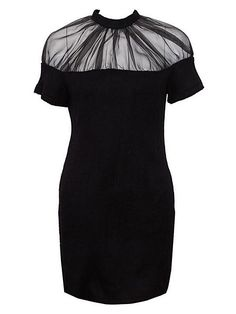 Black Dress With Sheer Panel | Choies $115.99