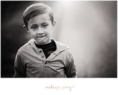 Eight. Black and White Children's Portrait by Melissa Avey Photography