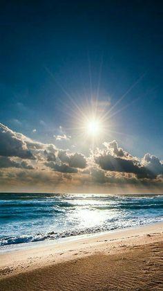 Summer's blue sea.