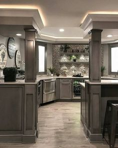 31 Amazing Kitchen Design Ideas For Your Modern Home Design - Tips for Renovating it - In case you want a few thoughts about your kitchen remodelling, you need to know just the way to discover great tools. You can decide to take to house Elegant Kitchens, Luxury Kitchens, Beautiful Kitchens, Home Kitchens, Dream Kitchens, Cottage Kitchens, Farmhouse Kitchen Cabinets, Basement Kitchen, Home Decor Kitchen