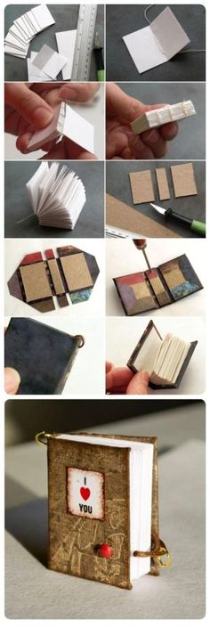 homemade valentines day gifts for him miniature book key chain idea - what a cute and creative idea! Book Crafts, Fun Crafts, Diy And Crafts, Paper Crafts, Unique Valentines Day Gifts, Homemade Valentines, Valentine Ideas, Origami, Mini Things