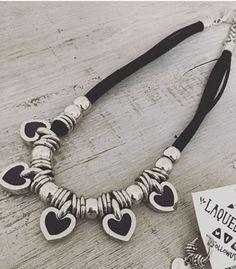 I prefer to make it a bracelet, maybe choker Leather Necklace, Boho Necklace, Leather Jewelry, Wire Jewelry, Jewelry Crafts, Beaded Jewelry, Jewelery, Silver Jewelry, Fashion Bracelets