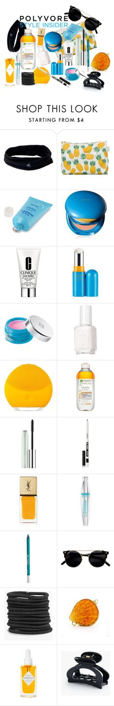 """""""Makeup Bag Staples: For the Beach"""" by alexosterberg ❤ liked on Polyvore featuring beauty, prAna, Rosa & Clara Designs, Shiseido, Clinique, Givenchy, Essie, FOREO, Garnier and Eyeko"""