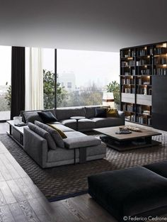 45 Awesome Modern Apartment Living Room Design Ideas 45 Awesome Modern Apartment Wohnzimmer Design-I Dark Living Rooms, Living Room Modern, Home Living Room, Apartment Living, Interior Design Living Room, Cozy Living, Small Living, Living Area, Modern Couch