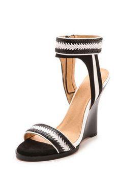 L.A.M.B. Fina Wedge Sandals, $199.50; shopbop.com