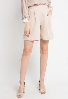 Mineola Rubber Waist Short Pants Cream