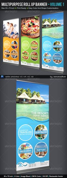 Multipurpose Roll Up Banner   Volume 3 — Photoshop PSD #stand #clean • Available here → https://graphicriver.net/item/multipurpose-roll-up-banner-volume-3/5542322?ref=pxcr
