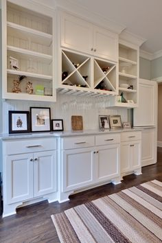 cabinetry for the far wall