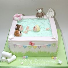 Swimming Pools Cakes - The Jelly Swimming Pool cake! This is one of my fave cakes ever, it was really simple to make. Anna Cake, Pool Cake, Happy Birthday, Birthday Cakes, Bassinet, Toy Chest, Jelly, Swimming Pools, Cake Decorating