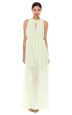 Creponne Drawstring Maxi Dress by carven