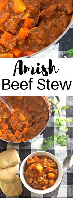 If it is a delicious and hearty dish you are looking for, this Amish Beef Stew is the perfect recipe to serve your family. Pressure Cooker Beef Stew, Beef Stew Meat, Side Dishes Easy, Main Dishes, Quick Meals, Easy Dinners, Perfect Food, Soups And Stews, Have Time