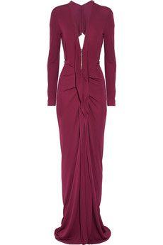 Roland Mouret  Compeyson zip-front stretch-crepe gown