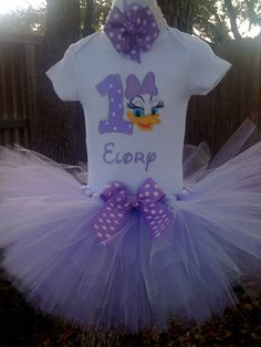 Daisy Duck Custom Boutique Monogrammed by robellaboutique on Etsy, $40.00