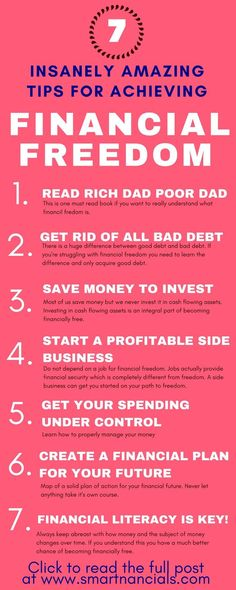 These insanely amazing tips to achieve financial freedom are seriously the best! I'm so happy I found these great tips and tricks! Now I know some awesome steps to take to become financially free! Definitely pinning! #financialfreedom #business #motivation #infographic #tips