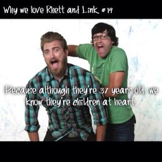 "Why we love Rhett and Link series by @goodmythicalmidnight on Instagram....""Sooooo true. Lol."""
