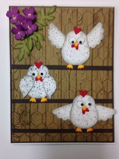 Using Stampin up owl and bird punches, word background stamp as well as the old chicken wire stamp. Owl Punch Cards, Paper Punch Art, Owl Card, Bird Cards, Stamping Up Cards, Creative Cards, Cute Cards, Greeting Cards Handmade, Homemade Cards