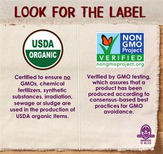 Look for the USDA Organic & Non-GMO Project Verified labels