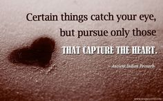 Certain things capture the eye…
