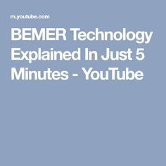 BEMER Technology Explained In Just 5 Minutes - YouTube