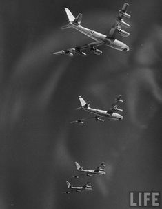 B-47 jet bombers, during a flight from MacDill Air Force Base, Tampa, Florida, by Ralph Morse, 1954