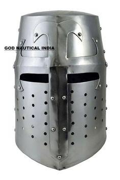 18GA SCA LARP Medieval Gladiator Helmet III Brass Reenactment Armor Helmet AC06