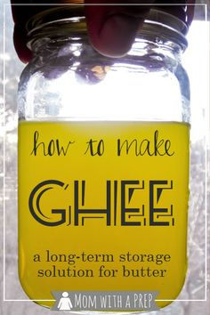 Mom with a PREP | How to process butter for long term storage. And GHEE - it is not by canning!