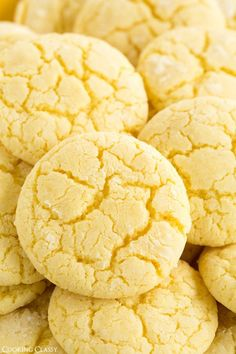 Lemon Crinkle Cookies: My hubby doesn't eat sweets, unless they're made with lemon. These cookies look perfect!