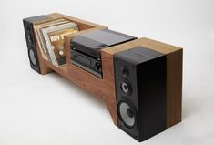 10 incredible record player consoles to reimagine your living space - Having rounded up 12 alternatives to Ikea for vinyl storage, we turn our attention to the wonderful - Diy Vinyl Storage, Vinyl Record Storage, Stereo Cabinet, Record Cabinet, Record Player Console, Speaker Box Design, Diy Speakers, Wireless Speakers, Home Studio Music