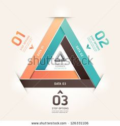 Modern infinite triangle origami style number options banner. Vector illustration. can be used for workflow layout, diagram, step options, web design, infographics. by Kittisak, via ShutterStock