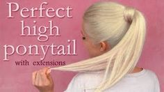 High ponytail with extensions hairstyle: perfect blending tips and tricks