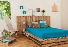 20 DIY Κρεβάτια από παλέτες! Palette Diy, Green Palette, Palette Projects, Furniture Sets, Outdoor Furniture, Outdoor Decor, Pallet Platform Bed, Platform Beds, Diy Pallet Bed