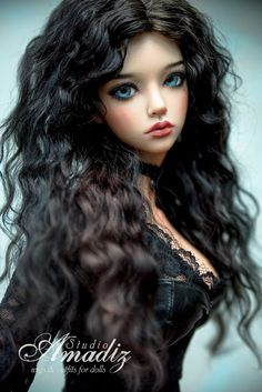 "Yennefer from ""The Witcher"" (natural angora wig for bjd SD, MSD, tiny) Pretty Dolls, Cute Dolls, Beautiful Dolls, Bjd Dolls, Barbie Dolls, Barbie Sisters, Enchanted Doll, Surfer Girl Style, Doll Clothes Barbie"