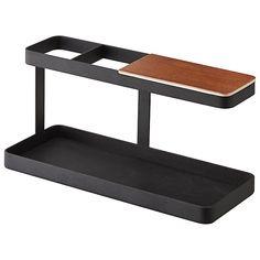 Buy Yamazaki Tower Bar Desktop Storage, Black/Dark Wood Online at johnlewis.com