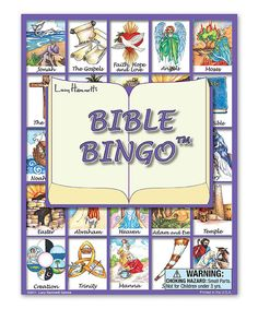 Bible Bingo Game. Expand your little one's vocabulary and knowledge of bible characters.
