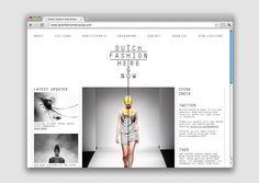 Dutch Fashion Here & Now Website   Jamie Mitchell