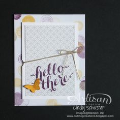 Love using the paper stacks to make quick and easy cards ~ Cindy Schuster