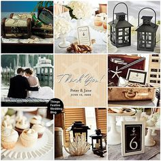 nautical themed wedding in mocha, black & ivory. Posting for nautical themed home decor inspiration Vintage Nautical Wedding, Nautical Wedding Inspiration, Nautical Party, April Wedding, Sister Wedding, Our Wedding, Dream Wedding, Wedding Blog, Wedding Reception