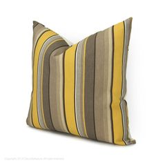 18x18 Outdoor Pillow Case Reversible Outdoor by ClassicByNature