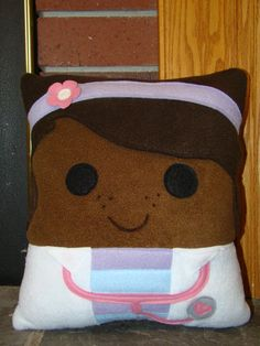 Doc McStuffins, Pillow, plush, throw pillow, room decor, kids