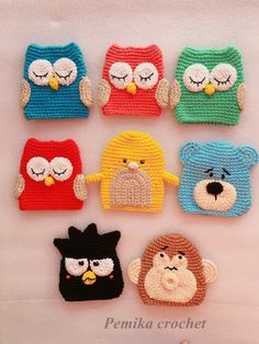 Crochet Ideas, Crochet Hats, Key Diy, Kawaii Crochet, Key Covers, Cable, Phone, Winter, Key Hangers