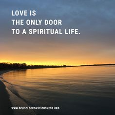 #love is the only door to a spiritual life