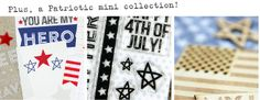Sneak peek at the Patriotic mini collection also launching on May 10th, only at Elle's Studio!