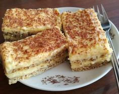 Orechové rezy High Sugar, Cake Recipes, French Toast, Sweet Tooth, Deserts, Food And Drink, Gluten, Cookies, Baking