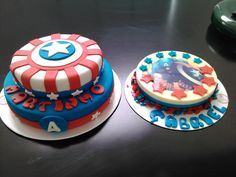 torta de Capitan America