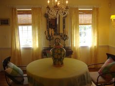 dining room at Opening Hill, Madison, CT  walls and window treatment by MDC