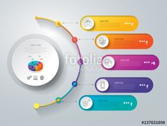 Timeline infographics design vector and marketing icons can be used for workflow layout, diagram, annual report, web design. Business concept with 5 options, steps or processes. Infographic Template Powerpoint, Free Powerpoint Presentations, Powerpoint Design Templates, Booklet Design, Flyer Template, Simple Web Design, Web Design Tips, Ios Design, Report Design