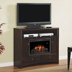 Electric Fireplace with TV, Media Consoles & Entertainment Centers | Mantels & Stands