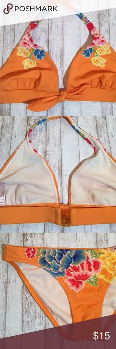 NWOT 👙 VS | Orange bikini top NWOT 👙 VS | Orange bikini top // bottoms are available in closet // this listing is only for top! Ordered online so did not have tags attached. Victoria's Secret Swim Bikinis